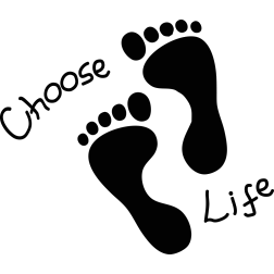 choose life feet