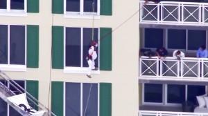 lone man hanging