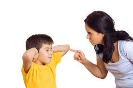 child fighting with parent